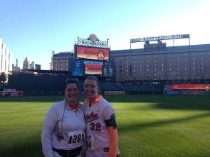 Beth and I after finishing the run!